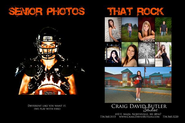 Northville High School Senior Yearbook Advertisement, Michigan, Graduation Portrait Photography, Craig David Butler