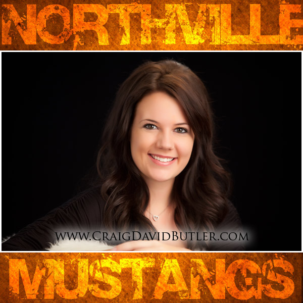 Michigan Senior Pictures Northville High School Studio Portrait 1